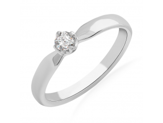 Золотое кольцо с бриллиантом и сапфиром (101-10041)