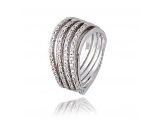 Золотое кольцо с бриллиантом (157004)