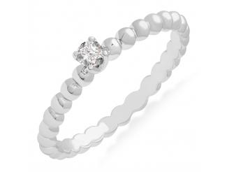Золотое кольцо с бриллиантом (101-10039б)