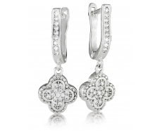 Серебрянные серьги с подвесками (3368,1)