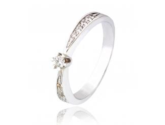 Золотое кольцо с бриллиантом (701-234а)