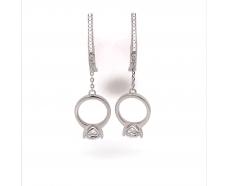 Серебрянные серьги с подвесками (2624379)