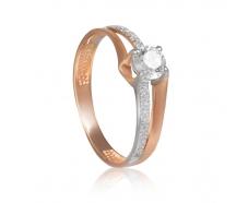 Золотое помолвочное кольцо (700021-СВ)