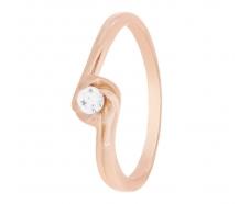 Золотое кольцо с фианитом (1101468101)