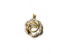 Золотой кулон с фианитом (700268-К Рр)