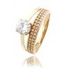 Золотое кольцо с фианитом (818) - 1