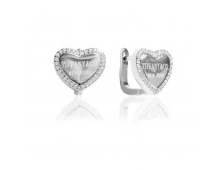 Серебряные серьги с фианитом (СК2Ф/1098)
