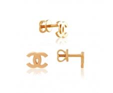 Золотые серьги-пуссеты (0559G)