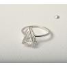Серебряное кольцо с фианитом (1624368) - 1