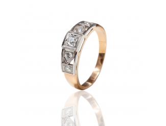 Золотое кольцо с бриллиантом (К-5)