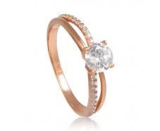 Золотое кольцо с фианитом (1191018101)