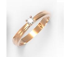 Золотое кольцо с бриллиантом (11883)