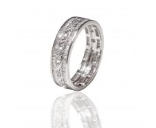 Золотое обручальное кольцо с бриллиантом (АR109-БК)