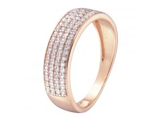 Золотое кольцо с фианитом (1191011101)