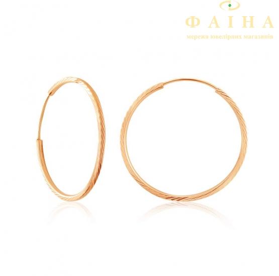 Золотые серьги-кольца (004/1) - 1