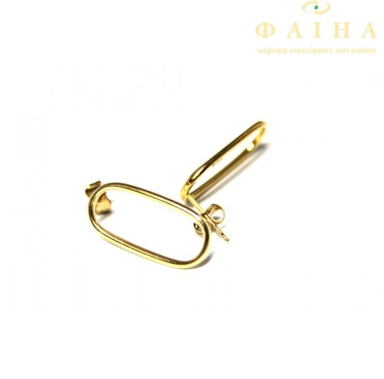 Золотые серьги-пуссеты (2004405101) - 1