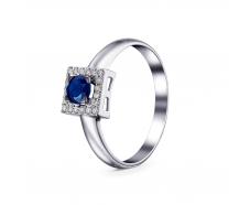 Золотое кольцо с бриллиантом и сапфиром (1946)