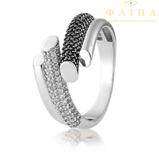 Серебряное кольцо с фианитом (2674,3) - 1