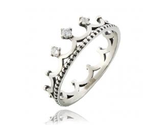 Серебряное кольцо с фианитом (3732корона)