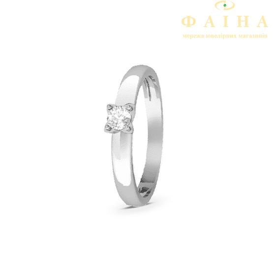 Золотое кольцо с бриллиантом (1259) - 1