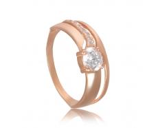 Золотое кольцо с фианитом (886)