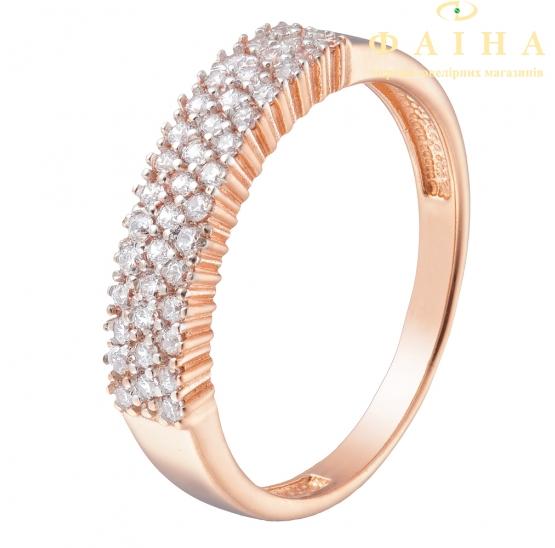 Золотое кольцо с фианитом (1190877101) - 1