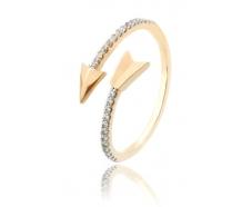 Золотое кольцо с фианитом (700086-Рр)