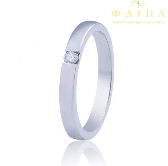 Золотое обручальное кольцо с бриллиантом (КОА7104/1) - 1