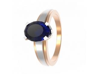 Золотое кольцо с рубином (11842с)