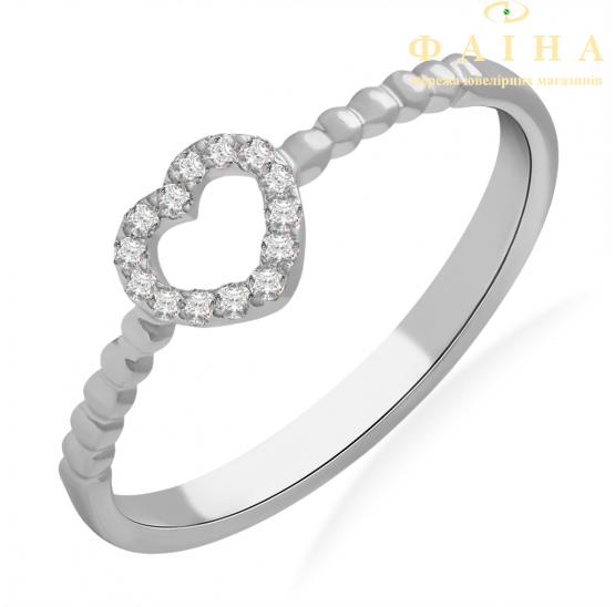 Золотое кольцо с бриллиантом и сапфиром (101-10028) - 1