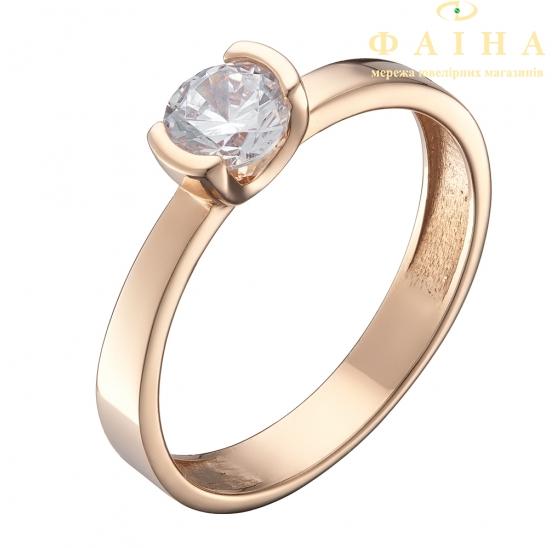 Золотое кольцо с фианитом (1191360101) - 1