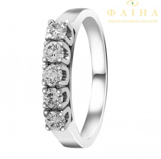 Золотое кольцо с бриллиантом (К-5Д) - 1
