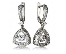 Серебрянные серьги с подвесками (3331,1)
