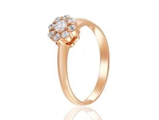 Золотое кольцо с фианитом (4203Sw)