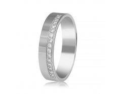 Золотое обручальное кольцо с бриллиантом (КОА7137/1)