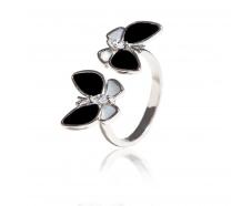 Серебряное кольцо с фианитом (КК2ОПФ/2064)