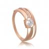 Золотое кольцо с фианитом (886) - 1