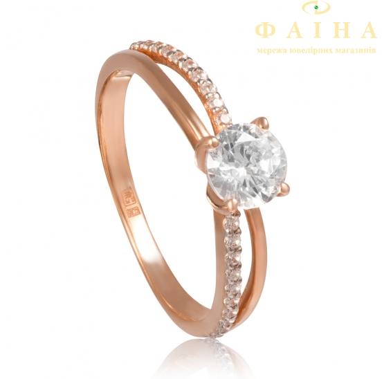 Золотое кольцо с фианитом (1191018101) - 1