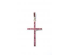 Золотой крест с  сапфиром (К-31р)