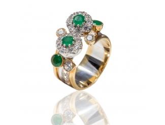 Золотое кольцо с бриллиантом (Галина)