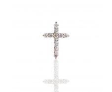 Золотой крест с бриллиантом (092б)