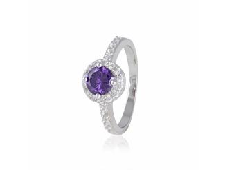 Серебряное кольцо с фианитом (КК2ФА-437)