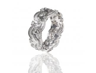 Золотое обручальное кольцо с бриллиантом (R1745-БК)