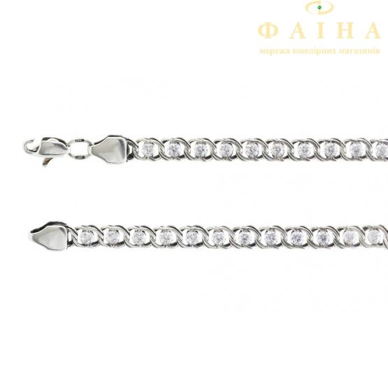 Серебряный браслет (р1703л) - 1