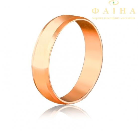 Золотое обручальное кольцо (42s) - 1
