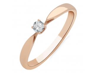 Золотое кольцо с бриллиантом и сапфиром (101-10046)