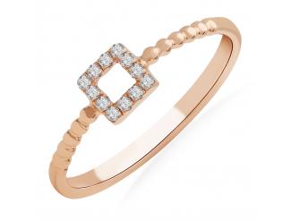 Золотое кольцо с бриллиантом и сапфиром (101-10053)
