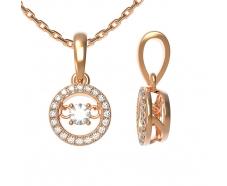 Золотая цепь-колье с бриллиантом (80098)