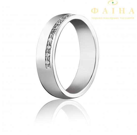 Золотое обручальное кольцо с бриллиантом (Д-15б) - 1