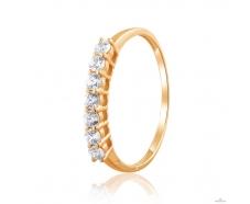 Золотое кольцо с фианитом (4196Sw)